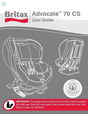 Britax Advocate 70 CS User Manual