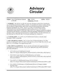 Cares Harness FAA Advisory Circular 120 87A Use of Child ...