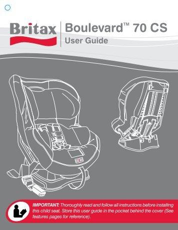britax boulevard 70 cs user guide owners manual book