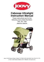 Joovy Caboose Ultralight Instruction Manual