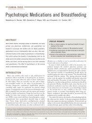 Psychotropic Medications and Breastfeeding - MBL Communications