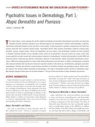 Psychiatric Issues In Dermatology, Part 1 : Atopic Dermatitis - MBL ...