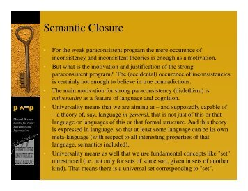 Semantic Closure - Bremer