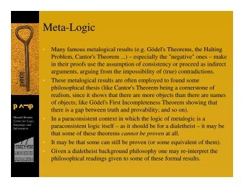 Meta-Logic - Bremer