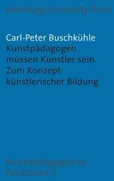 Kunstpädagogen müssen Künstler sein - Hamburg University Press ...