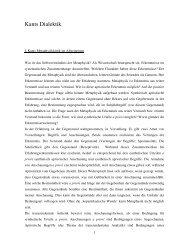 Kants Dialektik - Bremer