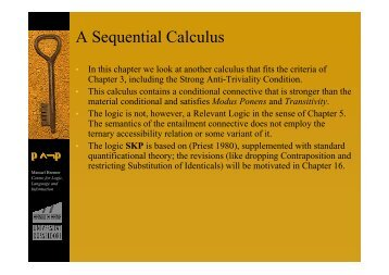 A Sequential Calculus - Bremer