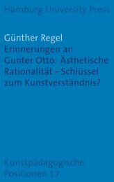 Erinnerungen an Gunter Otto - Hamburg University Press ...