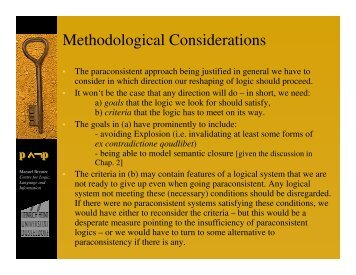 Methodological Considerations (& First Applications) - Mbph.de