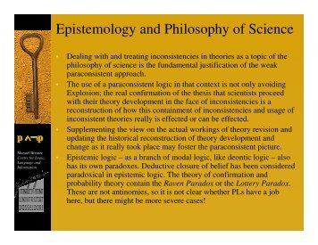 Epistemology and Philosophy of Science - Bremer