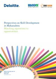 Perspectives on Skill Development in Maharashtra Matching - Deloitte
