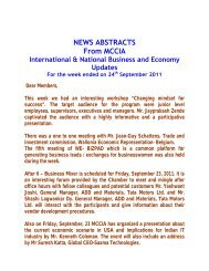NEWS ABSTRACTS From MCCIA