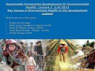 Sustainable Community Development II: Environmental Health ...