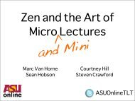 Zen and the Art of Micro and Mini Lecture