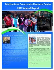 MCRC Annual Report 2012 - Multicultural-Community-Resource ...