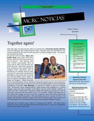 MCRC NOTICIAS - Multicultural-Community-Resource-Center