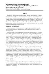 Globalizing the Brief Calculus Curriculum - Maricopa Center for ...