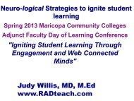 PowerPoint from Keynote Speaker, Dr. Judy Willis - Maricopa ...