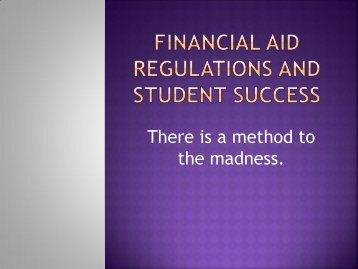 Financial Aid and Effective Student Advising - Maricopa Center for ...