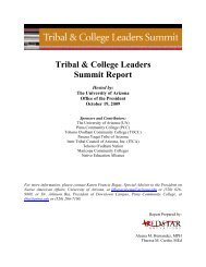 Tribal & College Leaders Summit Report - Maricopa Center for ...