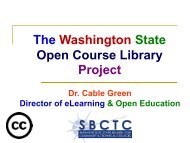 The Washington State Open Course Library Project - Maricopa ...