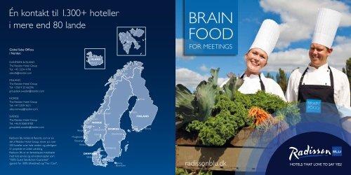 BRAIN FOOD - Radisson Blu