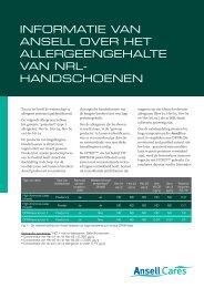 Volledig White Paper I downloaden (pdf) - Ansell Healthcare Europe