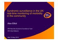 Syndromic surveillance in the UK: real-time monitoring of morbidity ...