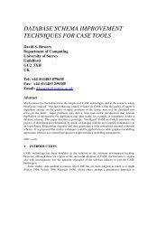 database schema improvement techniques for case tools