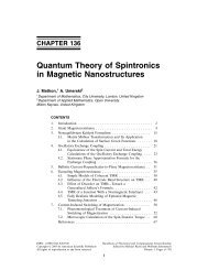 Quantum Theory of Spintronics in Magnetic Nanostructures