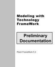Modeling with Technology FrameWork