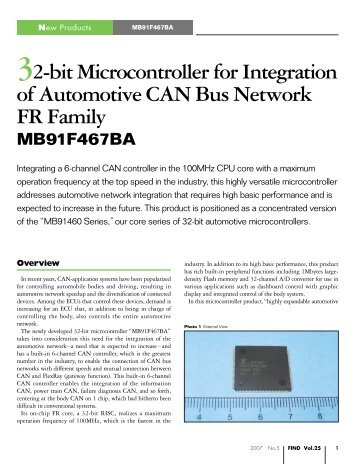 32-bit Microcontroller for Integration of Automotive CAN Bus ... - Fujitsu