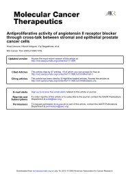 Antiproliferative activity of angiotensin II receptor blocker through ...