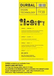 DURBAL Produktkatalog / Product Catalog 01 - Maryland Metrics