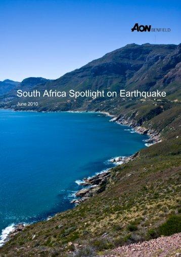 South Africa Spotlight on Earthquake - Aon