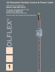 Oil Resistant Flexible Control & Power Cable - Maryland Metrics