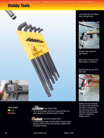 Stubby Tools - Maryland Metrics