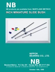 NB Linear Bearing Shafting (Miniature Inch sizes) - Maryland Metrics