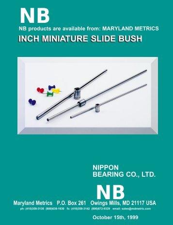 NB Linear Bearing Shafting (Miniature Inch sizes) - Maryland Metrics