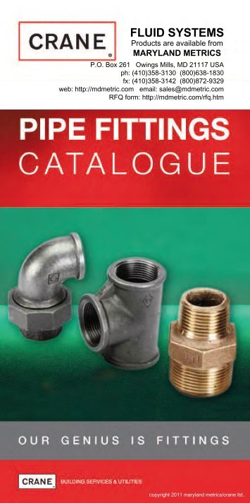 Download or view the Pipe Fittings Catalog [PDF ... - Maryland Metrics
