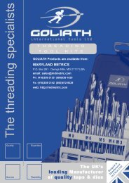 the Goliath Threading Tool (tap & die) - Maryland Metrics