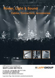 Power, Light & Sound - Our custom catalogue ... - Maryland Metrics
