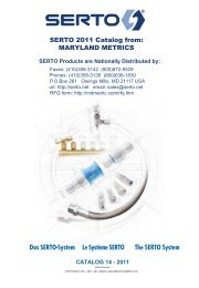 SERTO Products are Nationally Distributed by - Maryland Metrics