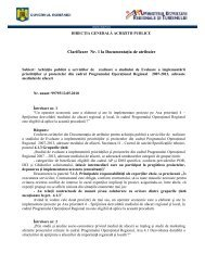 Clarificare 1 - Ministerul Dezvoltării Regionale şi Turismului