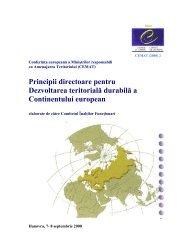 Principii directoare pentru Dezvoltarea teritorială ... - Infocooperare
