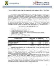 anunt - Ministerul Dezvoltării Regionale şi Turismului