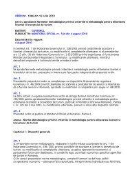 ORDIN Nr. 1866 din 16 iulie 2010 - Ministerul Dezvoltării Regionale ...