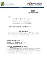 Caiet de sarcini - Ministerul Dezvoltării Regionale şi Turismului