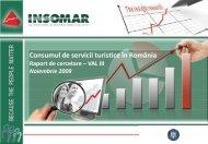 Raport de Cercetare Turism Noiembrie 2009