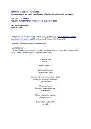 HOTARARE nr. 215 din 4 martie 2009 pentru aprobarea Normelor ...